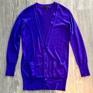 J.CREW Purple Cardigan